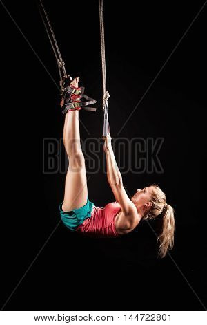 girl in a new type of gymnastics