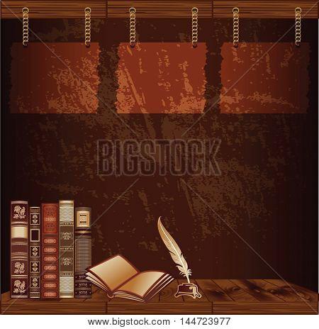 Dark brown grunge background for vintage template
