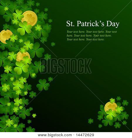 St. Patrick's Day Background in grünen Farben
