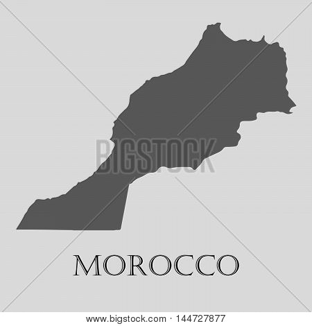 Gray Morocco map on light grey background. Gray Morocco map - vector illustration.