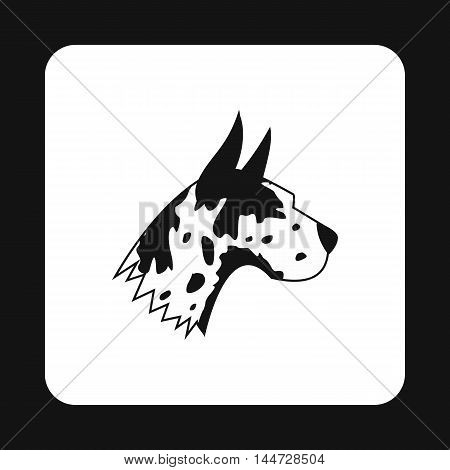 Great dane dog icon in simple style isolated on white background. Animals symbol