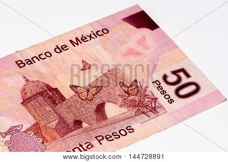 50 Mexican pesos bank note made in 2007