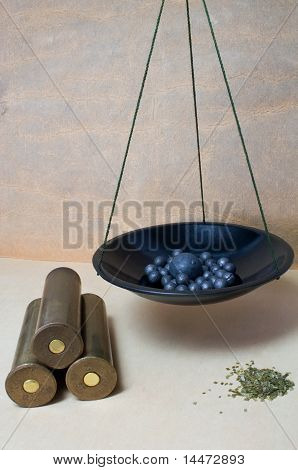 Cartridges, Bullet, Fraction And Gunpowder