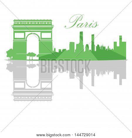 Isolated Paris Skyline