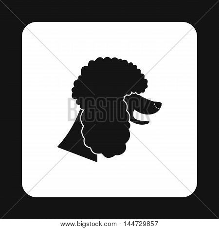Poodle dog icon in simple style isolated on white background. Animals symbol