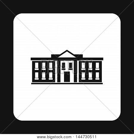 White house USA icon in simple style isolated on white background. State symbol