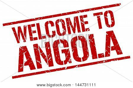 welcome to Angola. stamp. grunge square sign