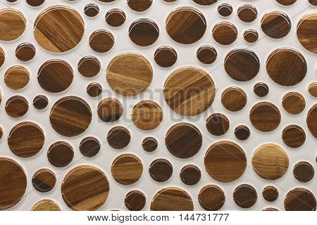 round water drop on Brown background, Retro design home decor tile and wall