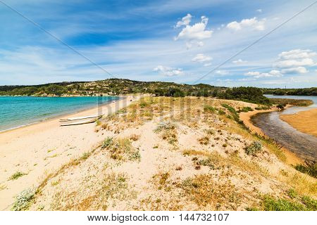 Cala Girgolu beach in Costa Smeralda Italy