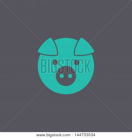 Pig Icon. Vector Concept Illustration For Design