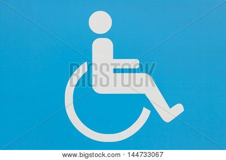 Disabled Handicap Icon, blue handicapped sign, Disabled icon