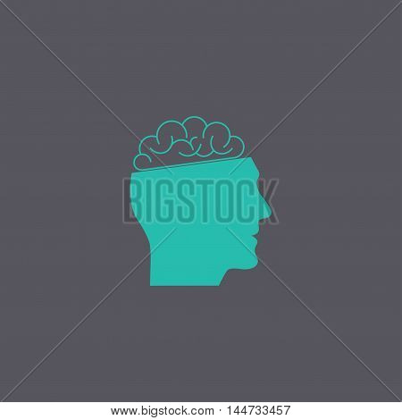Icon Of Human Head And Brain.