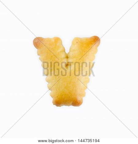 V-shape Cracker in the form of the alphabet