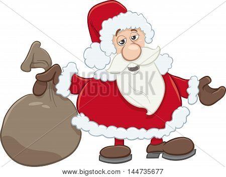 Santa With Sack Cartoon