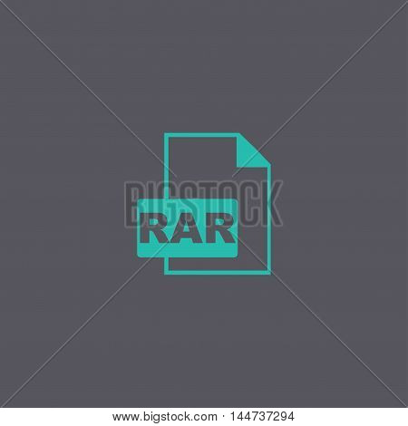 Rar Icon. Vector Concept Illustration For Design