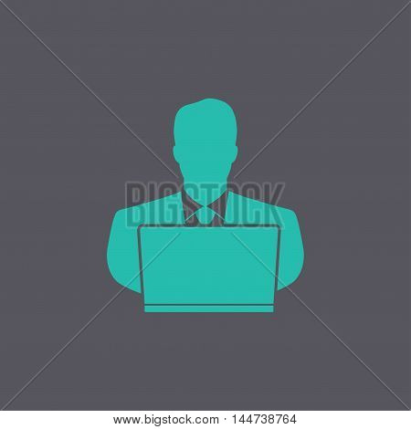 People With Computer Person With Laptop Icon