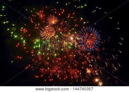 The fireworks -- a ceremonial firing of specialized (