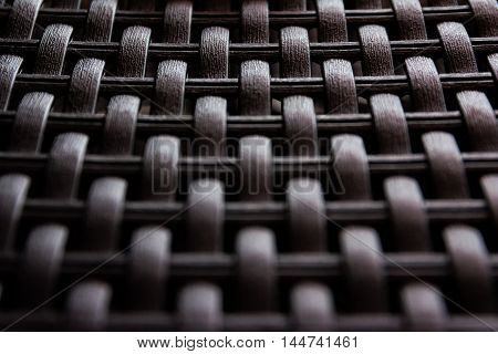 Woven Plastic Artificial Wicker Texture Wood Fake