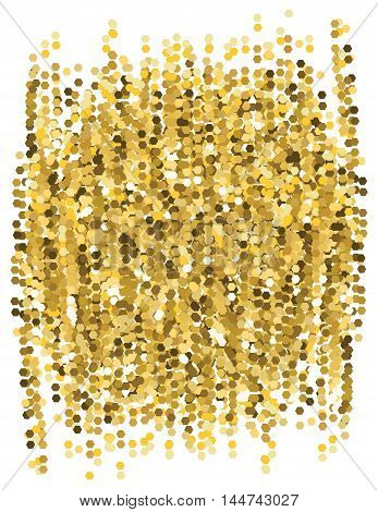 Abstract glitter gold background. Vector. Geometric shapes