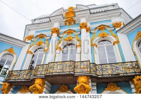 Palace Of Tsarskoye Selo In St. Petersburg