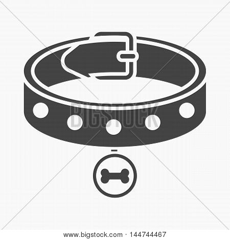 Dog collar vector illustration icon in black design