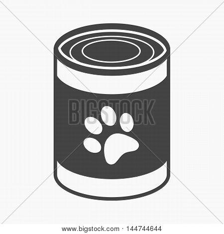 Dog food vector illustration icon in black design