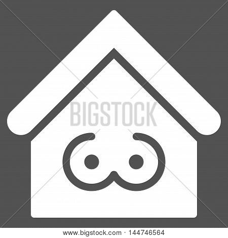 Strip Bar icon. Glyph style is flat iconic symbol, white color, gray background.