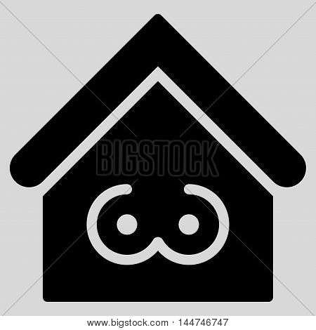 Strip Bar icon. Glyph style is flat iconic symbol, black color, light gray background.