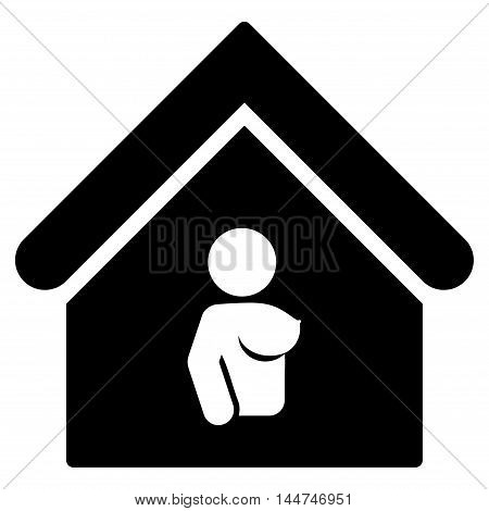 Bordel icon. Glyph style is flat iconic symbol, black color, white background.