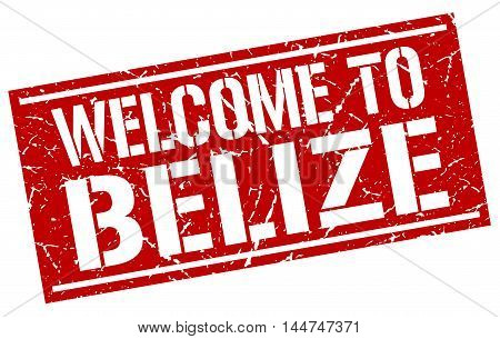 welcome to Belize. stamp. grunge square sign