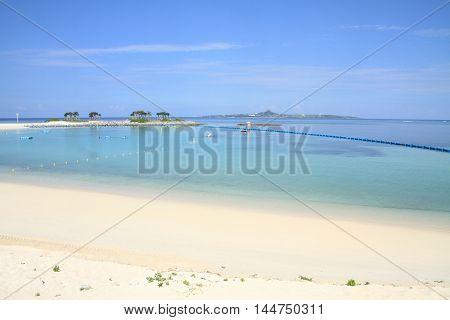 Emerald beach in Ocean Expo park Okinawa Japan