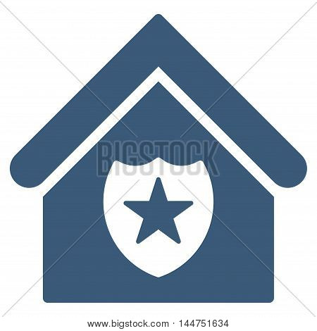 Realty Protection icon. Vector style is flat iconic symbol, blue color, white background.