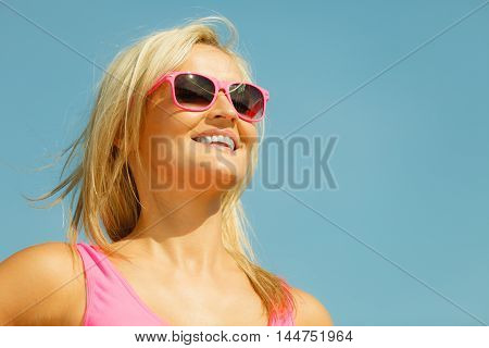 Young Girl On Beach.