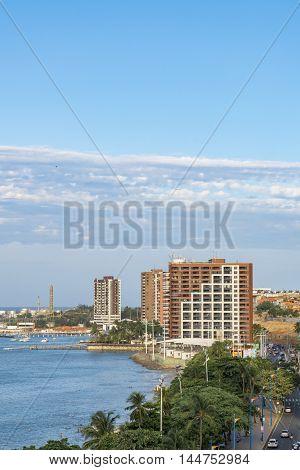 Aerial View Of Coastline Of Fortaleza Brazil