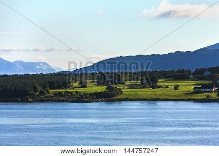 Scenery Of Natural Wonders Of Molde Fjord, Norway