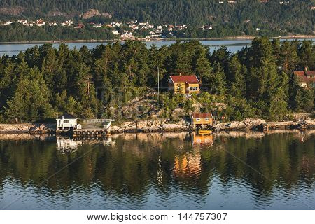 Scenery Of Spectacular City, Colorful Houses On Oslo, Norway