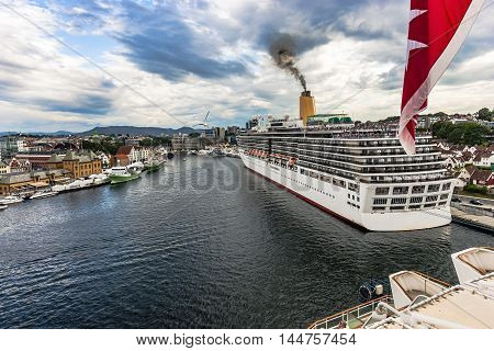 Cruise Travel On Stavanger, Norway