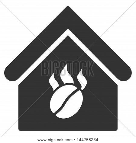 Coffee Shop icon. Vector style is flat iconic symbol, gray color, white background.