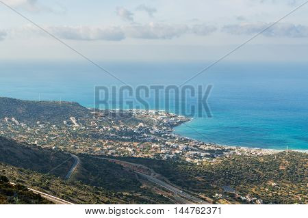 Panoramic View Over The Coast