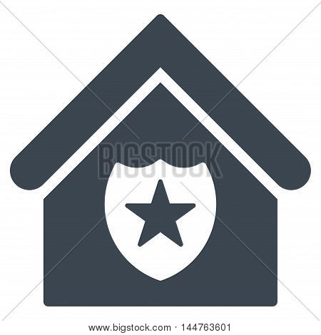 Realty Protection icon. Vector style is flat iconic symbol, smooth blue color, white background.