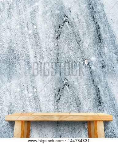 Wooden Tabletop At Stone Wall,template Mock Up For Display Of Product,business Presentation