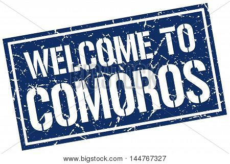 welcome to Comoros. stamp. grunge square sign