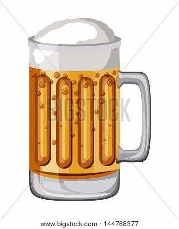 beer drink fresh isolated icon vector illustration design