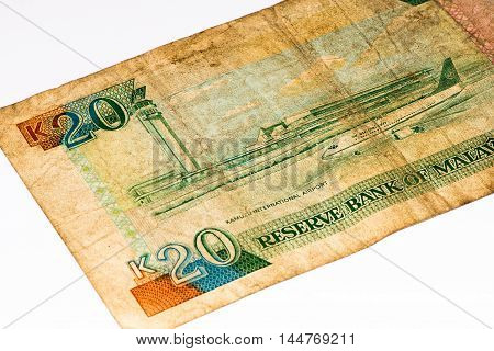 20 Malawi kwacha bank note. Malawi kwacha is the national currency in Malawi