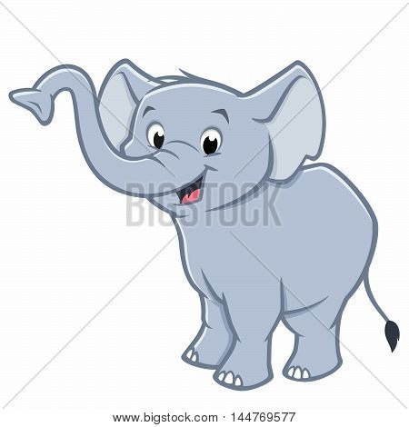 Vector illustration of a cute baby elephant for design element