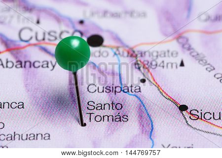 Santo Tomas pinned on a map of Peru