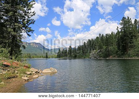 Summer at Electra Lake in Durango, Colorado