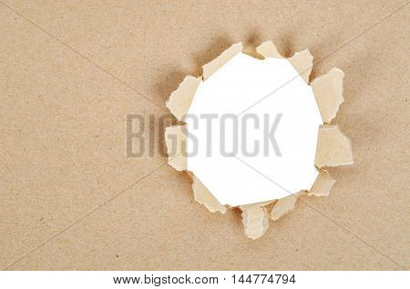 Paper explosion isolated on white background Saved clipping path.