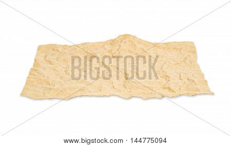 Blank recycle paper isolated on white background Saved clipping path.