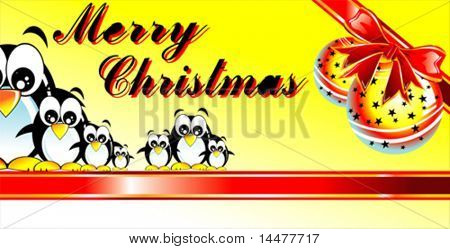 VECTOR Merry Christmas with Tux family